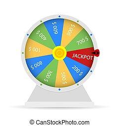 winnen, jackpot, fortuin, wiel, loterij
