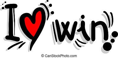 winnen, liefde