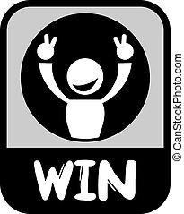 winnen, pictogram