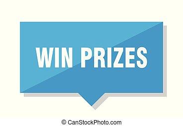 winnen, prijs label, prijzen