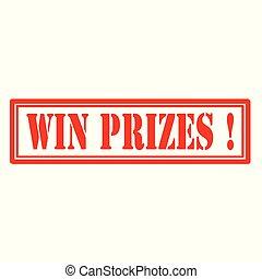 winnen, prizes-stamp