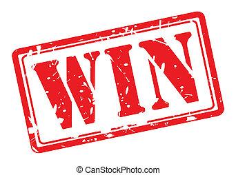 winnen, rood, postzegel, tekst
