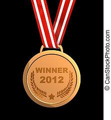 Winner  2012 - Winner trophy - golden champion  medal 2012