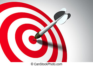 Winner - Arrow on red target - business concept