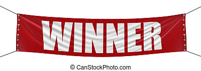 Winner Banner  - Big Winner Banner. Image with clipping path
