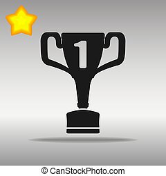 winner black Icon button logo symbol concept high quality