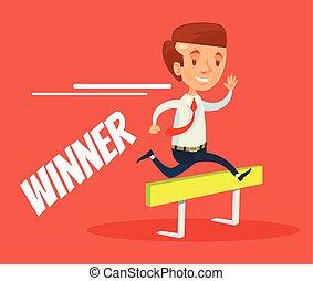 Winner businessman