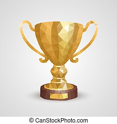 Winner cup 3d polygon