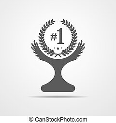 Winner cup icon. Vector illustration.