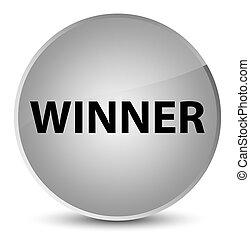 Winner elegant white round button