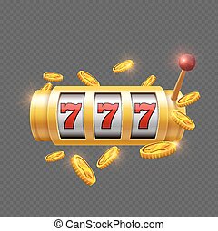 Winner gambling with slot machine
