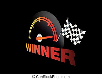 winner graphic design element for motorsports, - Vector...