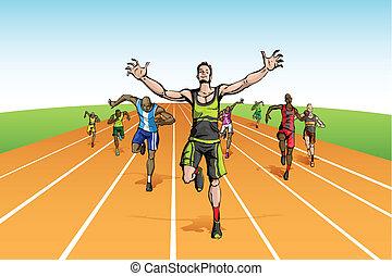 Winner in Finishing Line