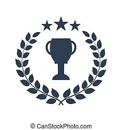 winner laurel wreath with cup