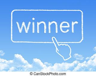 winner message cloud shape