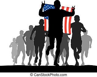 Winner of the U.S. flag
