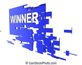 winner on wall