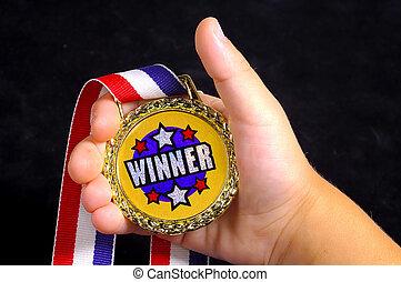 Winner - Hand With an a Award