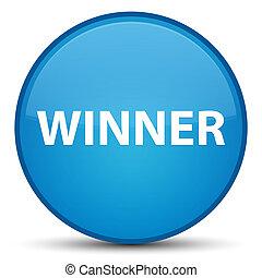 Winner special cyan blue round button