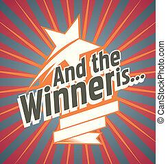 Winner - Vector poster design for the winner of the ...