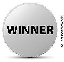 Winner white round button