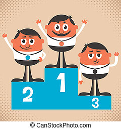 Winners - Conceptual illustration for winning. No...