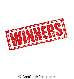 Winners-stamp - Grunge rubber stamp with word Winners,vector...