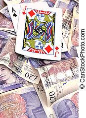 winning blackjack hand with cash