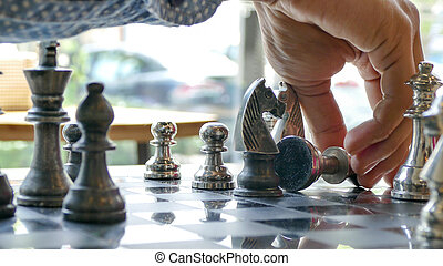 Winning chess move in the checkmate