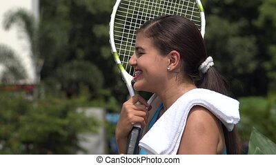 Winning Female Tennis Player