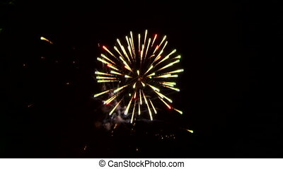 Winning fireworks - Very beautiful and colorful fireworks in...