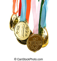 Winning golden medals by the number one