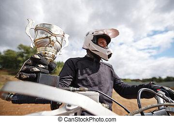 Winning motorcycle championship