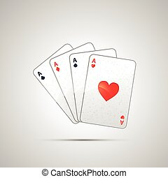 Winning poker hand of four aces