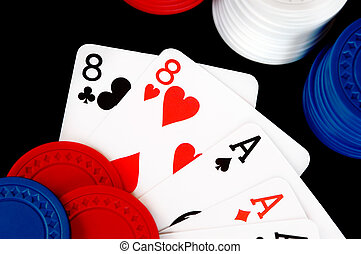 Winning Poker Hand With Chips