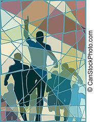 Winning runner mosaic