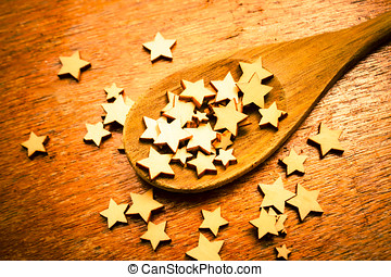 Winning star recipe - First prize food contest with a wood...