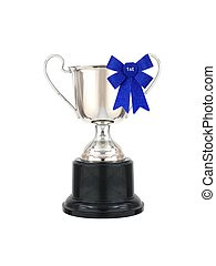 Winning - A trophy isolated against a white background