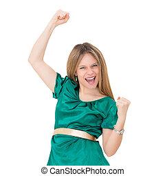 Winning success woman