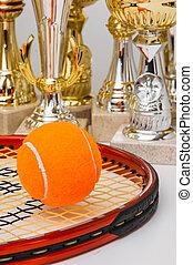 winning tennis tournaments