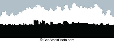 Winnipeg Skyline - Skyline silhouette of the city of...