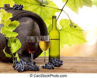 wino, nieruchome-życie