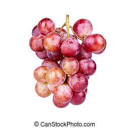 winogrono, czerwony, grono