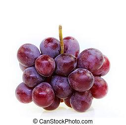 winogrono, odizolowany, czerwony, white.