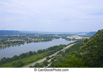 Winona and Lake from Atop Bluffs