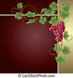 winorośl, tło