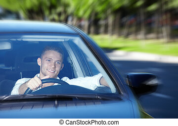 Winsock driver - A young man goes to the car