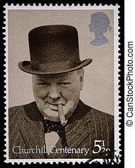 Winston Churchill Postage Stamp - UNITED KINGDOM - CIRCA...