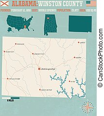 Winston County in Alabama USA