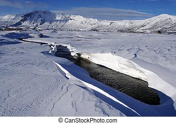 winter;, ποτάμι